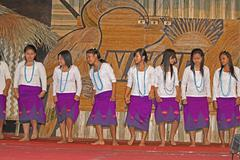 Stock Photo of traditional dance of apatani tribes during namdapha eco cultural festival, mi