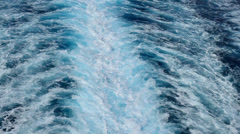Stock Video Footage of Cruise Ship Wake Medium Shot