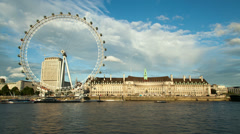 London South Bank sunset time lapse. 4K version Stock Footage
