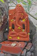 Stock Photo of god ganesha at sinhagad near pune, maharashtra