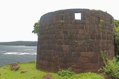bastion, gopalgad fort, anjanvel village in guhagar. - stock photo