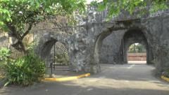 Fort santiago wall Stock Footage