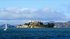 Stock Video Footage of Alcatraz Island Timelapse