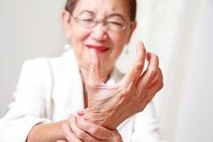 painful hand - stock photo