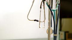 camera revolves around stethoscopes - stock footage