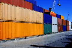 Row container Stock Photos
