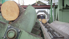 Sawmill - wood processing - stock footage
