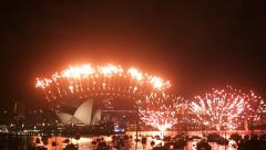 New Years Eve 2013 Sydney Stock Footage