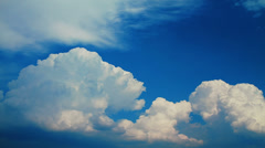 Time lapse of vibrant white blue cloudy sky Stock Footage