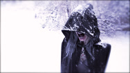 Stock Video Footage of Wraith Reveal - horrific hooded figure in snow