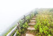 Stock Photo of fence and pathway on mountain