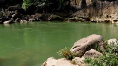 The Huangguoshu Waterfall of Baishui River in Guizhou, China Stock Footage