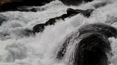 The Rushing Water in Baishui River of Guizhou, China Stock Footage