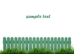 green fence isolated - stock illustration