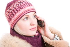 young woman talking a phone - stock photo
