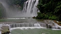 The famous Huangguoshu Waterfall in  Guizhou, China Stock Footage