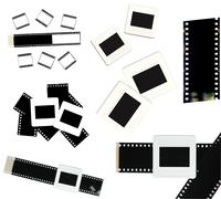 35mm film and slide frame isolated Stock Photos