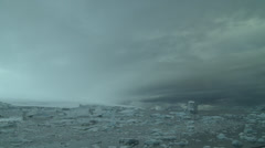 Time lapse - a storm howls in, Antarctica Stock Footage
