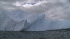 Berg in a wintery sea, Antarctica - stock footage