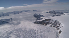 Stunning aerial view of Leopard Glacier at Larsen Ice Shelf, Antarctica Stock Footage