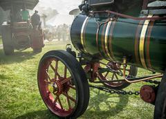 traction engine parade - stock photo