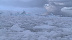 Time lapse - sea ice. Jelly on a plate. Antarctica Stock Footage