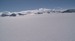 Very Rare: Blue skies and Flask Glacier, Antarctica Stock Footage