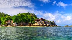 beautiful sea at tropical island, koh tao - stock photo