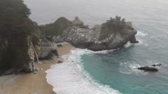 Waterfall at julia pfeiffer burns state park, california Stock Footage