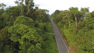 Stock Video Footage of Road running through primary Amazonian rainforest in Ecuador