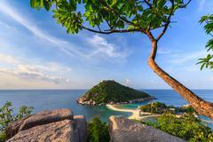 Beautiful paradise tropical island, koh tao, thailand Stock Photos