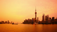 "4K: China Shanghai at dawn,(Time Lapse). >>> Please search: ""ShanghaiSkyline""  Stock Footage"