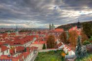 Stock Photo of view from prague castle on autumn prague