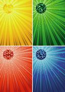 Disco Ball Backgrounds Stock Illustration