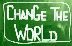 change the world concept - stock illustration