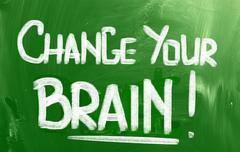 change your brain concept - stock illustration