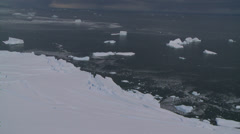 Aerials of disappearing Ice Shelves 2, Antarctica Stock Footage