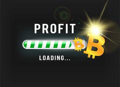 loading bitcoin profit - stock illustration