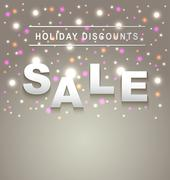 holiday sale background - stock illustration
