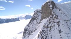 Very Rare: Aerial of Mountain, Flask Glacier, Antarctica Stock Footage