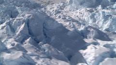 Very rare  Flask Glacier at Larsen Ice Shelf, Antarctica Stock Footage