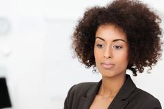 Sad wistful african american businesswoman Stock Photos