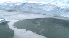 Ice shelf meets the sea - aerial, Antarctica Stock Footage