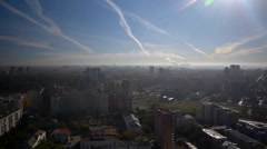 Stock footage aerial view Novosibirsk Stock Footage