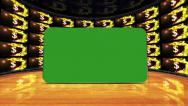 Dollars Symbols in Monitor with Green Screen Monitor, Loop Stock Footage
