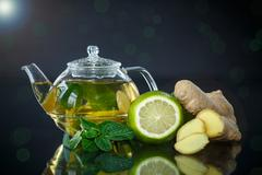 ginger tea - stock photo