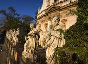 Stock Photo of poland krakow baroque st peter and st paul church apostles statues