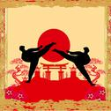 Stock Illustration of karate occupations - grunge background
