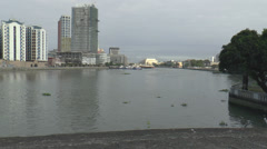 Pasig river view from fort santiago Stock Footage