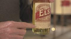 Man Showing Liquor Stock Footage